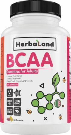 Image of BCAA Gummies for Adults Summer Fruits 10 Servings - Amino Acids & BCAAs Herbaland