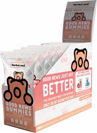 Image of Good News Gummies Peach Passion 12 - 50g Pouches - Healthy Snacks & Foods Herbaland