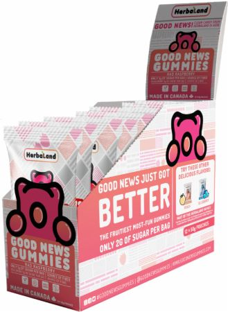 Image of Good News Gummies Rad Raspberry 12 - 50g Pouches - Healthy Snacks & Foods Herbaland