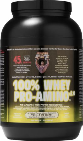 Image of 100% Whey Pro-Amino Vanilla Ice Cream 2 Lbs. - Protein Powder Healthy 'N Fit