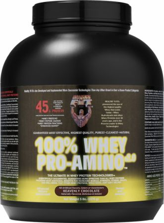 Image of 100% Whey Pro-Amino Heavenly Chocolate 5 Lbs. - Protein Powder Healthy 'N Fit
