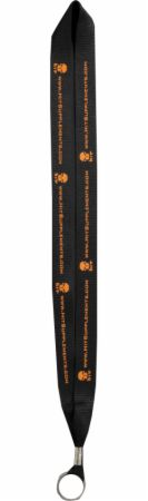 Image of HIT Supplements Pro Series Lanyard Black/Orange