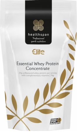 Image of Healthspan Elite Essential Whey Protein Concentrate 1 Kilogram Unflavoured