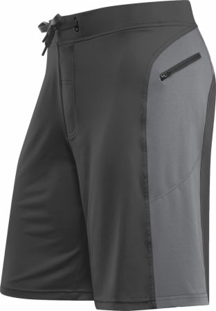 Helix II Flex-Knit Integrated Pocket Short Gun Metal Cool Gray Large - Men's Shorts Hylete Hylete Helix II Flex-Knit Integrated Pocket Short Gun Metal Cool Gray Large  - Flex-knit fabric that is highly durable with maximum stretch with integrated zipper cargo pockets