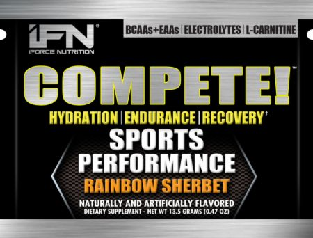 Image of iForce Nutrition Compete 10 Packets Rainbow Sherbet