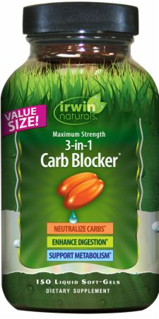 Image of Maximum Strength 3-in-1 Carb Blocker 150 Liquid Softgels - Carbohydrate Management Irwin Naturals
