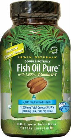 Fish oil pure by irwin naturals at best for Fish oil benefits bodybuilding