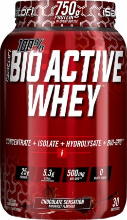iSatori 100% BIO ACTIVE WHEY Chocolate Sensation 2.3 Lbs. - Protein Powder