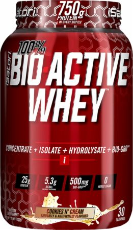 iSatori 100% BIO ACTIVE WHEY Cookies N' Cream 2.3 Lbs. - Protein Powder