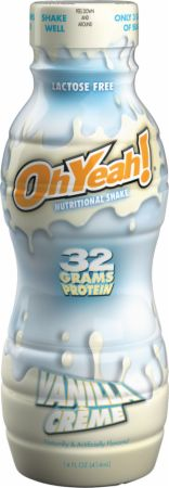 Image of OhYeah! Nutritional Shake Vanilla Cream 12 - 14 Fl. Oz. Bottles - Protein RTD Shakes OhYeah! Nutrition