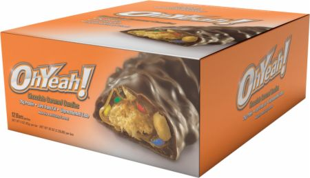 Image of OhYeah! Bars Chocolate Carmel Candies 12 - 85g Bars - Protein Bars OhYeah! Nutrition
