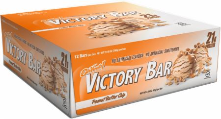 OhYeah! Nutrition OhYeah! Victory Bars Peanut Butter Chip 12 - 65g Bars - Protein Bars