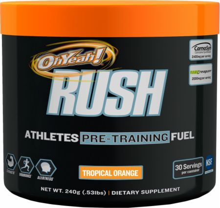 OhYeah! Nutrition Rush Tropical Orange 30 Servings - Pre-Workout Supplements