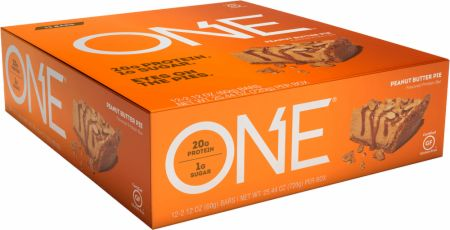 Image of ONE Bar Peanut Butter Pie 12 - 60g Bars - Protein Bars ONE