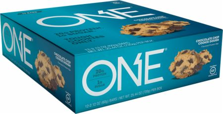 Image of ONE Bar Chocolate Chip Cookie Dough 12 - 60g Bars - Protein Bars ONE