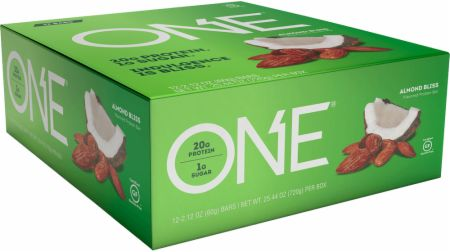ONE ONE Bar Almond Bliss 12 - 60g Bars - Protein Bars