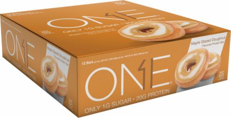 ONE ONE Bar Maple Glazed Doughnut 12 - 60g Bars - Protein Bars