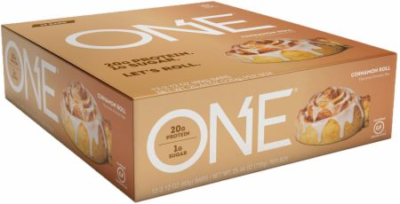 ONE ONE Bar Cinnamon Roll 12 - 60g Bars - Protein Bars