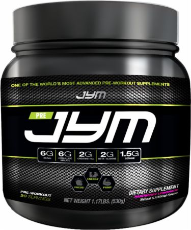 JYM Pre JYM Raspberry Lemonade 20 Servings - Pre-Workout Supplements - JYM101