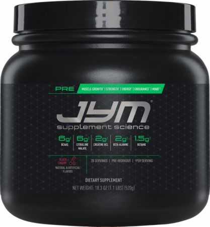 Pre JYM Black Cherry 20 Servings - Pre-Workout Supplements JYM Supplement Science