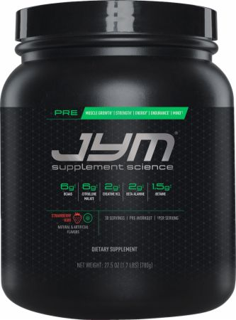 Pre JYM Strawberry Kiwi 30 Servings - Pre-Workout Supplements JYM Supplement Science