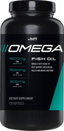 Image of Omega JYM Omega-3 Fish Oil 120 Softgels - Fish Oil Omega-3 JYM Supplement Science