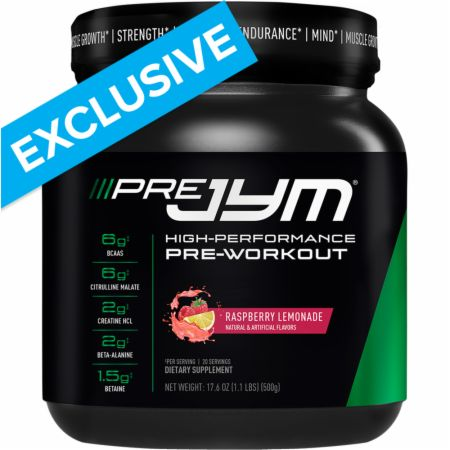 Pre JYM Raspberry Lemonade 20 Servings - Pre-Workout Supplements JYM Supplement Science