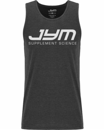 Image of Classic Logo Muscle Tank Charcoal Heather Medium - Men's Tank Tops JYM Supplement Science