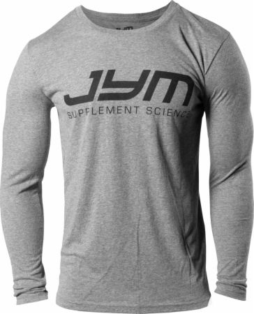 Image of Classic Logo Tri-Blend Long Sleeve Tee Premium Heather Large - Men's Long Sleeves JYM Supplement Science