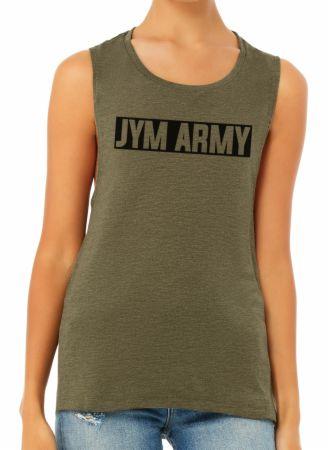 Women's JYM Army Muscle Tank