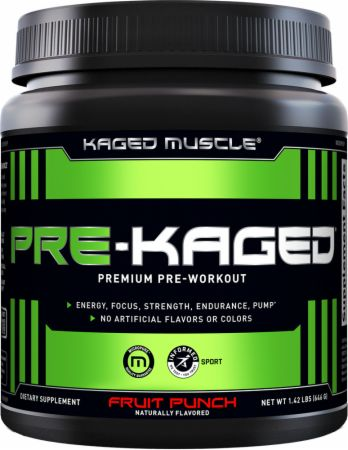 Kaged Muscle PRE-KAGED Fruit Punch 20 Servings - Pre-Workout Supplements...