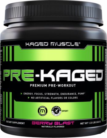 PRE-KAGED Berry Blast 20 Servings - Pre-Workout Supplements Kaged Muscle