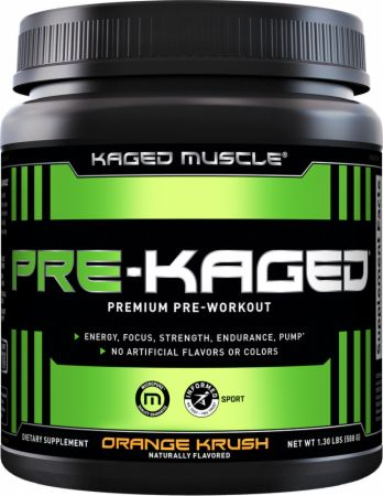 PRE-KAGED Orange Krush 20 Servings - Pre-Workout Supplements Kaged Muscle