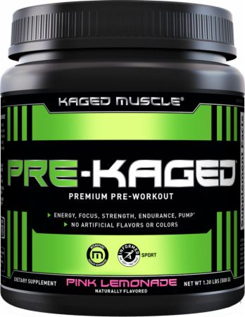 Image of PRE-KAGED Pre-Workout Pink Lemonade 20 Servings - Pre-Workout Kaged Muscle