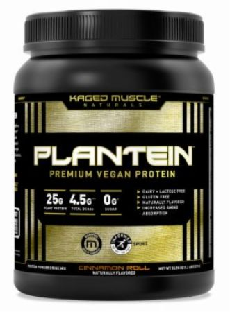 Image of Plantein Vegan Plant Protein Cinnamon Roll 1 Lb - Plant Protein Kaged Muscle