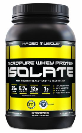 Image of MICROPURE Whey Protein Isolate S'mores 3 Lbs. - Protein Powder Kaged Muscle
