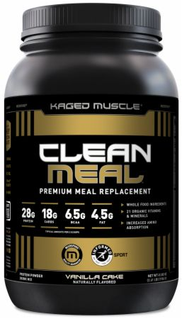 Image of Clean Meal Vanilla Cake 20 Servings (2.61 Lbs.) - Meal Replacement Kaged Muscle