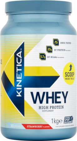 Image of Kinetica Whey Protein 1 Kilogram Strawberry