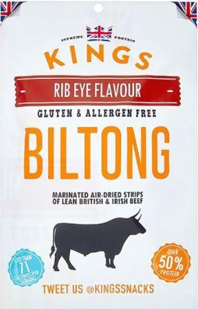 Image of Kings Elite Snacks Biltong 1 x 300g Packet Rib Eye