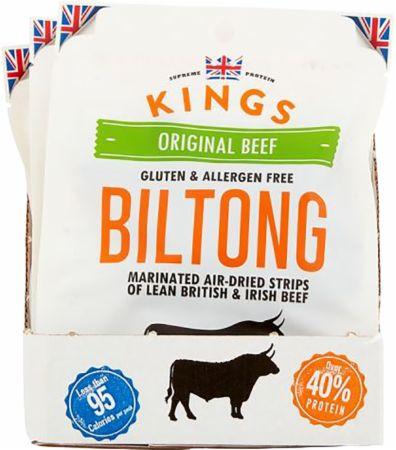 Image of Kings Elite Snacks Biltong 16 x 30g Packets Original