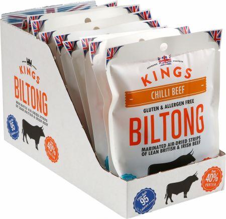 Image of Kings Elite Snacks Biltong 16 x 30g Packets Chilli