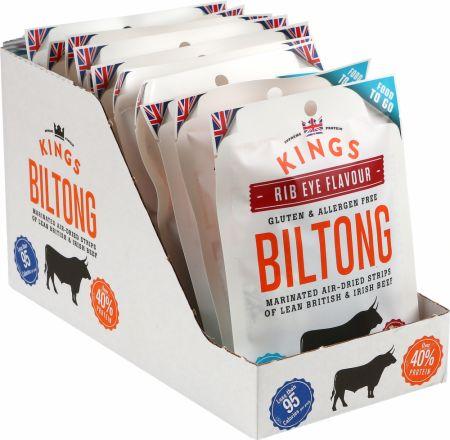 Image of Kings Elite Snacks Biltong 16 x 30g Packets Rib Eye