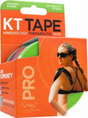 "Image of KT Tape Pro Synthetic Tape 20 - 10 Precut Strips Winner Green """