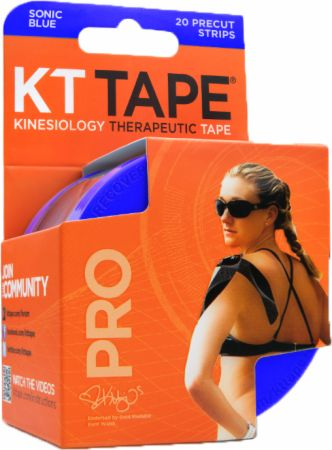 """Image of KT Tape Pro Synthetic Tape 20 - 10 Precut Strips Sonic Blue """""""