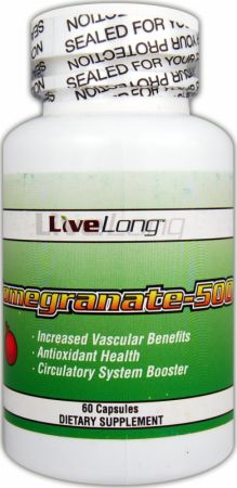 Image of LiveLong Nutrition Pomegranate-500 60 Capsules