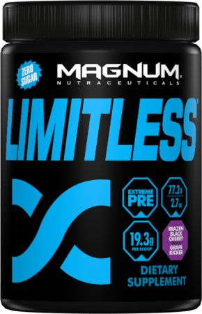 Magnum Nutraceuticals Limitless Brazen Black Cherry with a Grape Kicker 4 Servings - Pre-Workout Supplements