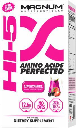 Hi-5 Strawberry w/ Black Cherry Kicker 24 Servings - Pre-Workout Supplements Magnum Nutraceuticals