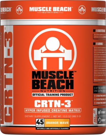 Image of CRTN-3 Orange Wave 45 Servings - Creatine Muscle Beach Nutrition