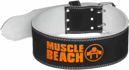 Muscle Beach Leather Weightlifting Belt