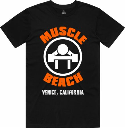 Image of The Original Muscle Beach T-Shirt Black XL - Men's T-Shirts Muscle Beach Nutrition